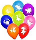 """Colourful Wild Dinosaur Latex 12"""" Balloons - A Selection of Different Cheeky Dinosaur's - Ideal for kids birthdays, Dinosaur themed party"""