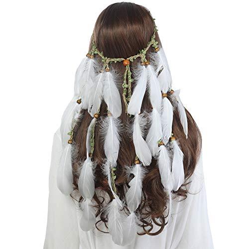 AWAYTR Feder Kopfschmuck Boho Hippie Stirnband - Fancy -
