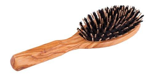 Redecker 721210 Brosse à cheveux ovale avec poils de sanglier et stylos en bois