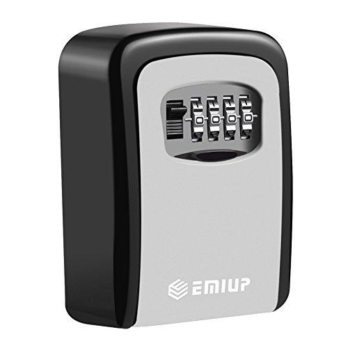 Preisvergleich Produktbild Schlüsseltresor, EMIUP[Wandmontage] Schlüsselsafe Schlüsselbox mit 4-stelligem Zahlencode für Häuser,  Büros,  Fitnessstudios,  Fabriken Schlüssel-Hohe Sicherheit