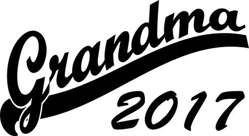 Mister Merchandise Herren Men V-Ausschnitt T-Shirt Grandma 2017 Tee Shirt Neck bedruckt Schwarz