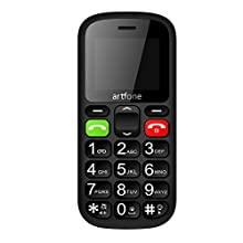 Big Button Mobile Phone for Elderly,Artfone CS181 Upgraded GSM Mobile Phone With SOS Button, Talking Number and Torch