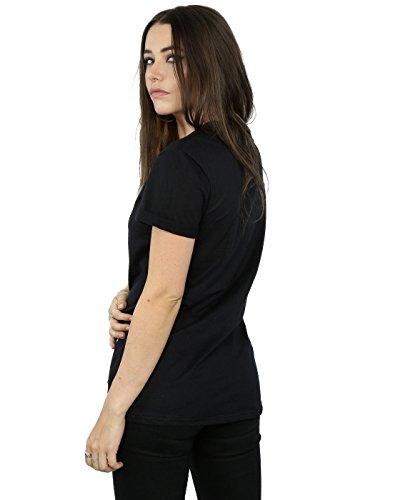 Disney Damen Coco Skull Pattern Boyfriend Fit T-Shirt Schwarz