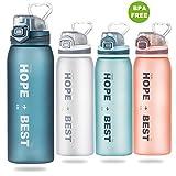 Sport Trinkflasche BAONUOR BPA-Freie Tritan Wasserflasche 900ml, Anti-Leck Sportflasche Für...