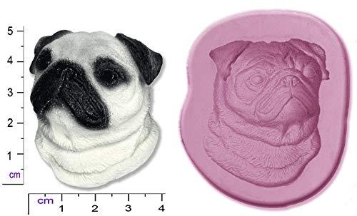 Hund, Mops Craft Sugarcraft Sculpey Silikon Backform (Hund Foto-verzierung)