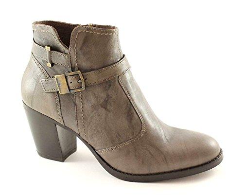 NERO GIARDINI 13346 scarpe stivaletti donna tronchetti zip fibbia Grigio