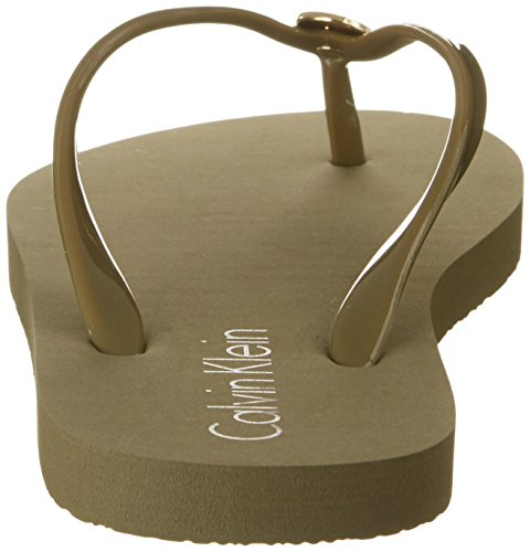 Calvin Klein Ff Sandal, Tongs Femme Vert (Military Olive 302)