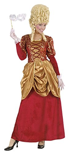 Widmann marchesa in velluto bordeaux vestito costumi completo adulto party 579, multicolore, taglia xl 8003558719006