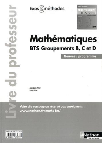 Mathématiques BTS Groupements B, C et D