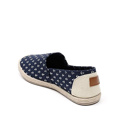 Ideal Shoes, Damen Slipper & Mokassins Marine
