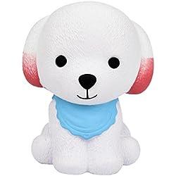 Logobeing Squishy Kawaii Cachorro Slow Rising Squeeze Toy Juguetes de Descompresión (Azul)