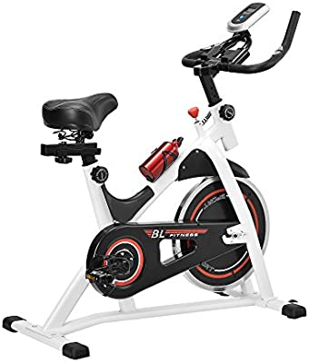 [in.tec]® Bicicleta estática / Indoor cycling - blanca - ejercicio en casa - fitness - spinning