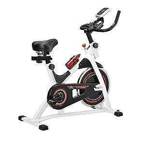 [in.tec] Heimtrainer/Fitness Bike/Indoor Cycling Rad – Weiss – Fitnessgerät