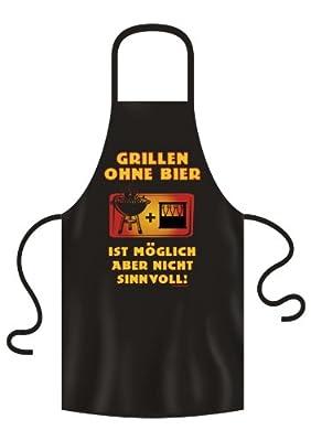 """NC -25 Grill und Kochschürze """"Grillen Ohne Bier"""" aus Baumwolle"""