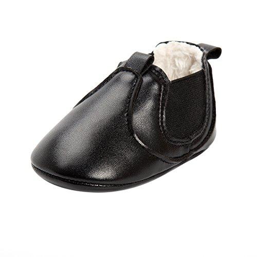 ESTAMICO Baby Jungen Mädchen Freizeit Winter Sneakers Warm Schuhe Schwarz 0-6 Monate (Sneaker Cowboy Stiefel)