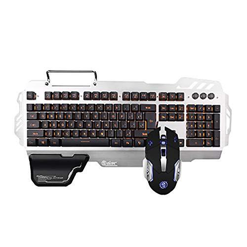 WYP Mechanische Tastatur Desktop Computer Laptop Spiel Heimtastatur und Maus Set Kombination,Black