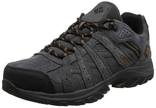 COLUMBIA Herren Wanderschuhe, Wasserdicht, CANYON POINT LEATHER OMNI-TECH, Grau (Dark Grey, Bright Copper), 42