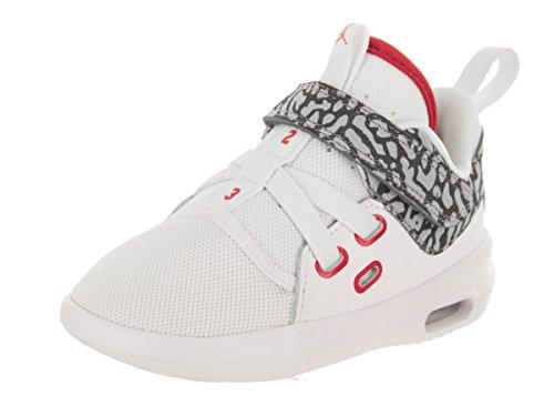 Jordan Los niños pequeños Nike Aire Primera Clase BT Casual Shoe 8 bebés de EE.UU. Bebé niño Blanco/Rojo Fuego Cemento Gris 8 M US Niño
