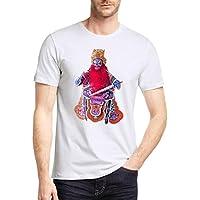 WWricotta Camisetas Hombre Originals Manga Corta Estampado de Geometría Polos Gimnasio Deporte Slim Fit Streetwear Camisas Casual Sudaderas