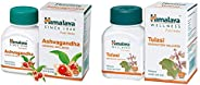 Himalaya Wellness Pure Herbs Ashvagandha General Wellness - 60 Tablets & Himalaya Wellness Pure Herbs Tula