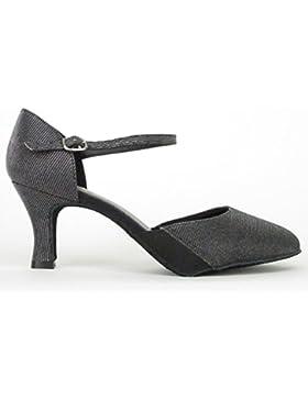 So Danca BL 118 Latein Salsa Rumba Tango Tanz Schuhe, Chromledersohle Absatz 6,4 cm