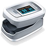 Beurer PO30 Pulse Oximeter, Blood Oxygen Saturation & Heart Rate Monitor, 5 Years Warr