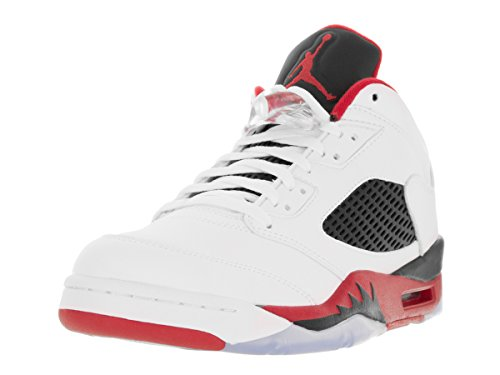 best service 3996f 462c8 ... clearance rød svart hvit hvite jordan air nike sko hvit mannen svart 5  brann retro sport