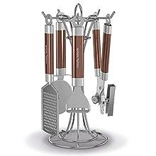 Morphy Richards Kitchen Utensils Set, Accents Range, Kitchen Gadget Set, Stainless Steel, Copper, 4-Piece