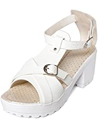 Meriggiare Women PU White Heels