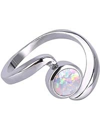 Verlobungsringe Nerh Marke Schmuck Mode Silber Farbe Rot Farbe Stein Hochzeit & Verlobung Ring Schmuck Für Frauen Ring Als Geschenk Gr