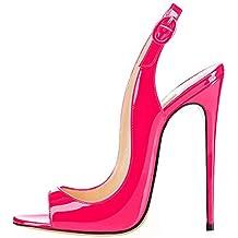 9df2f8a13e8 EDEFS Femmes Artisan Fashion Sandales Décolletés Bout Ouverts Chaussures à Talon  Haut de 120mm Noir