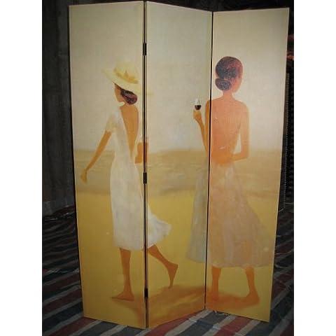6FT TALL GIRLS WHITE DRESS BEACH DRESSING SCREEN ROOM DIVIDER FROM CENTURION PINE by CENTURION PINE 07779 270996