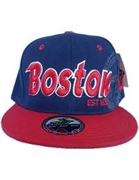 Boston City Two Tone Flat Peak Snapback Hat