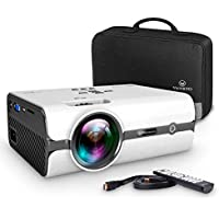 VANKYO Leisure 410 Projector with 4500 Lux, Carrying Bag and HDMI Cable, Full HD 1080P and 170'' Display Supported, Compatible with TV Stick, PS4, HDMI, VGA, TF, AV and USB, XBOX