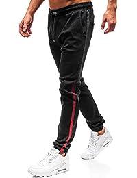BOLF Jeans – Jogger – con Coulisse – Imitazione della Cerniera – con Stemma  – con 8b477e14abe3