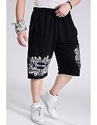 Short pour hommes pour pantalons de coton de taille grand hip-hop d'été