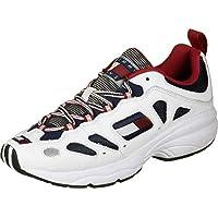 Tommy Hilfiger Heritage Retro Men Sneakers, White (Rwb), 9 UK (43 EU)