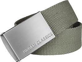 Urban Classics Canvas Belt Cintura con Fibbia Scorrevole in Metallo, Regolabile, 100% Poliestere, Diversi Colori...