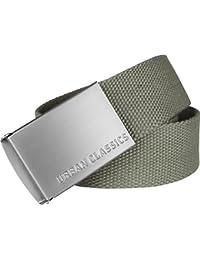 62429e251ebaf1 Urban Classics Unisex Gürtel Canvas Belt für Herren und Damen, stufenlos  verstellbarer Stoffgürtel, Länge 120 cm,…