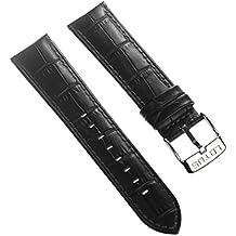 Correa Lotus de cuero negro Pulsera-material para Lotus L15845, L15846 relojes