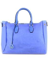 Benetton , Sac bandoulière pour femme Bleu Blu