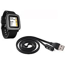 BlueBeach® Reemplazo de USB carga cable cargador para Pebble Time Smart Watch adecuado para Pebble Time / Time Steel / Time Round