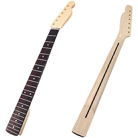 Kmise Collo in acero e tastiera in palissandro 22 tasti per Fender Telecaster-Confezione da 2