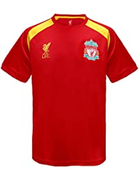 5314ba22450 Liverpool FC Official Football Gift Boys Poly Training Kit T-Shirt
