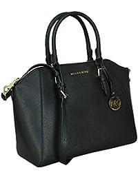 20a874fa1b50 Michael Kors Large Ciara Saffiano Leather Womens Satchel Shoulder Bag (Black )
