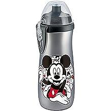 NUK 10255258, la botella de agua de gran capacidad (450 ml) 450 ml, boquilla resellable, 36 meses, BPA, 1 PC, Color:. Blanco, gris (plata)