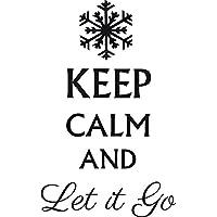Keep Calm And Let It Go Frozen della Disney film adesivo da parete in vinile fai da te GREEN (LIME)