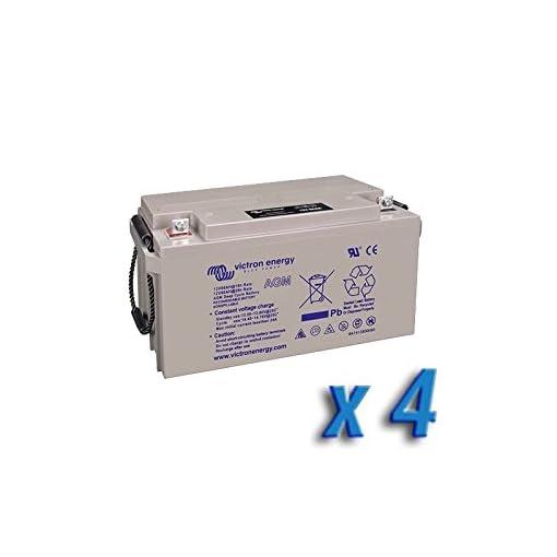 Victron Energy – Set 4 x Batteria 130Ah 12V AGM Deep Cycle Victron Energy Fotovoltaico Camper – BAT412121084x4