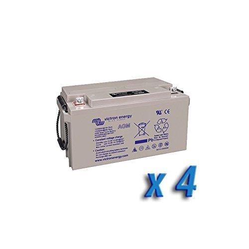 Preisvergleich Produktbild Set 4 x Batterie 220Ah 12V AGM Deep Cycle Victron Energy Photovoltaik Camper