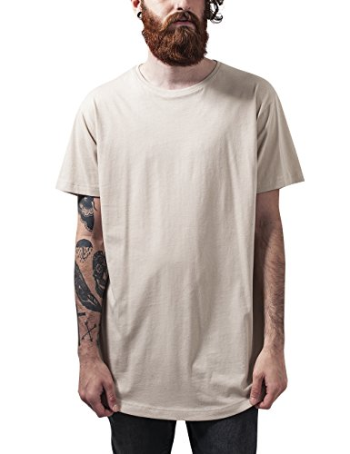 Urban Classics Shaped Long Tee, T-Shirt Uomo, Elfenbein (Sand 208), XXL